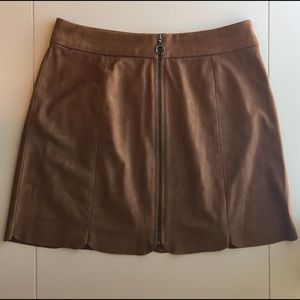 Wayf Faux Suede Skirt